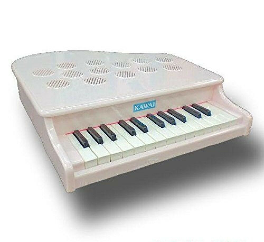 Nuevo Kawai Mini Piano P-25 blancoo 1108-9 Juguete Educativo 25 Llave Made IN Ems