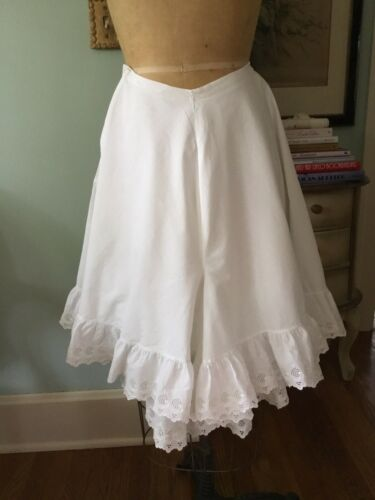 Victorian Edwardian Vintage Antique White Cotton E