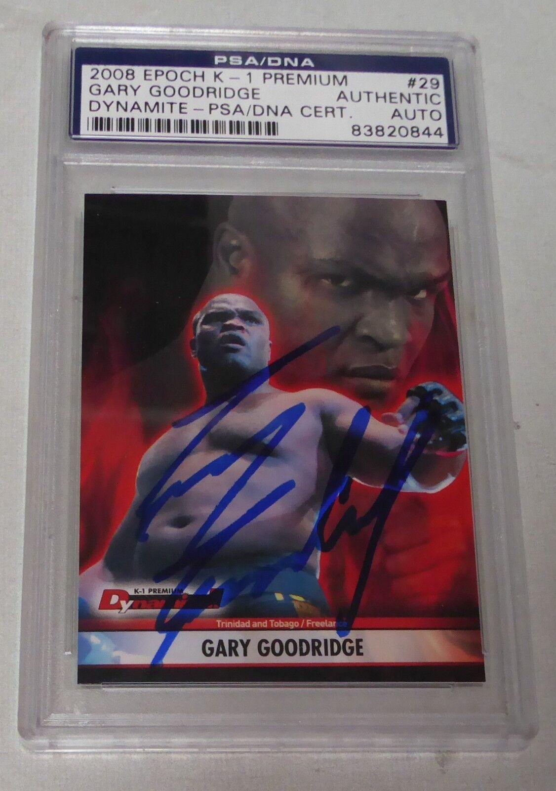 Gary Goodridge Firmado 2008 Epoch K-1 Premium Dynamite Tarjetas PSA DNA UFC 8