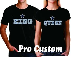 5741296b1 King and Queen cowboys Couple matching funny DALLAS team Fan cute T ...