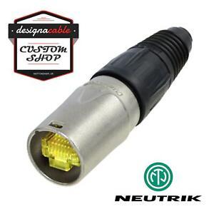 Neutrik NE8MX-1 Ethercon Connector. Silver Housing. CAT5, CAT6, CAT7 RJ45 Case
