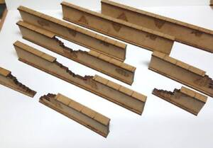 28mm-Wargame-Brick-Style-Fence-wall-2mm-MDF-Laser-Cut-Kit