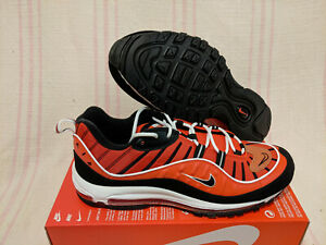 Nike Air Max 98 AM98 Habanero Red Black