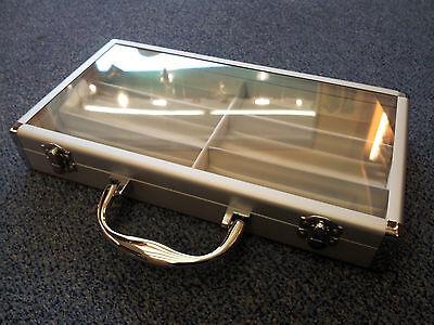 Aufrichtig Brillenkofer Brillenkiste, Alu Für 6 Brillen Acryldekel Brillenetui