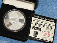 Michael Irwin 1 Troy Ounce .999 fine Silver Sport Round Highland Mint B7804