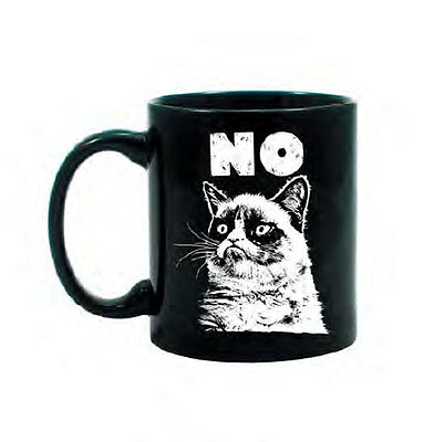 Grumpy Cat Black / White Coffee Mug - NO.