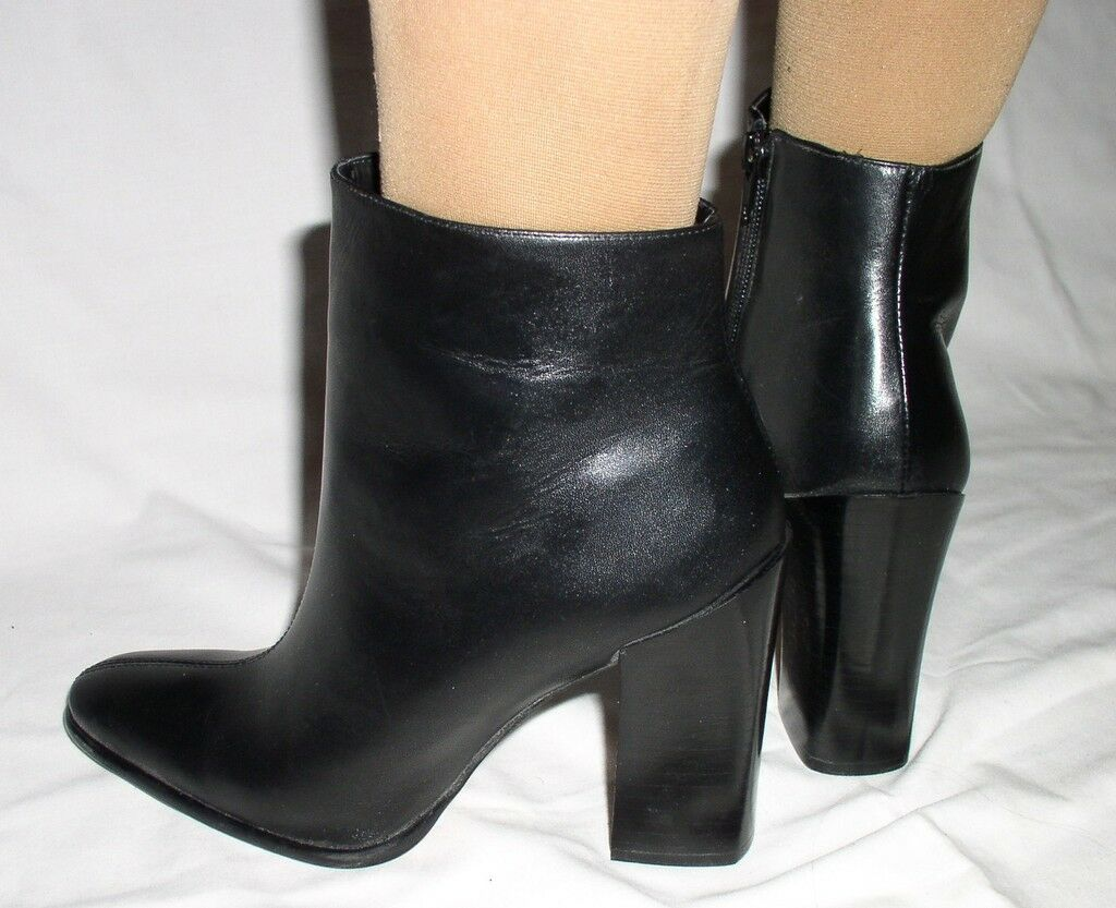 Damenschuhe Stiefel BLACK LEATHER ANKLE Stiefel Damenschuhe BAKERS SIZE 7.5 NEW 99 b99918
