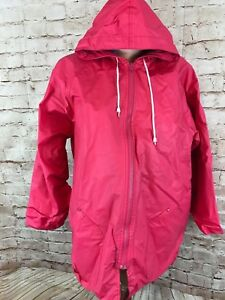 75645eb633d J.G. Hook Pink PVC Cotton Lining Womens Hooded Raincoat size L