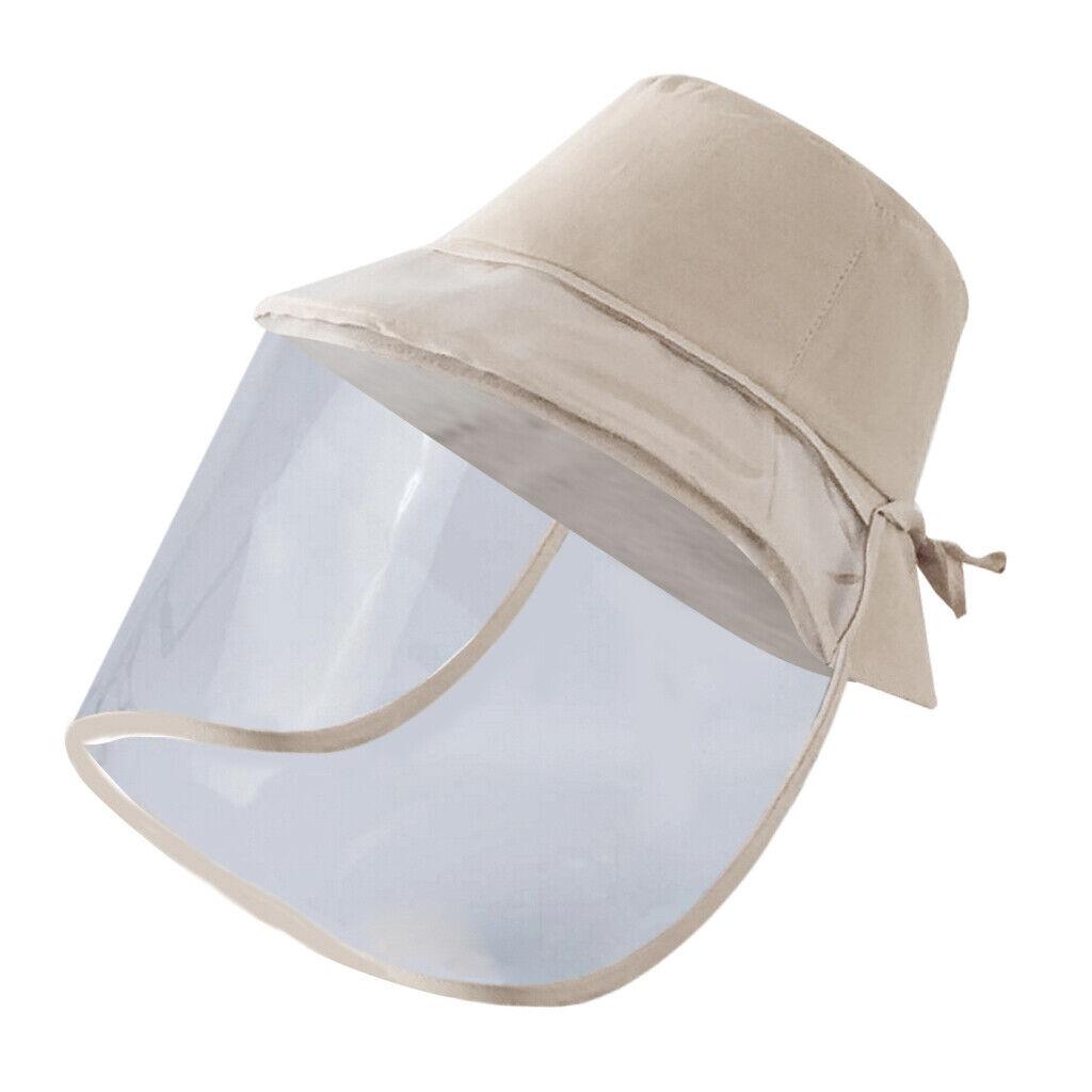 Anti-Speichel-Schutz-Fischerhut Weiches PVC Abnehmbarer Gesichtsschutz Beige