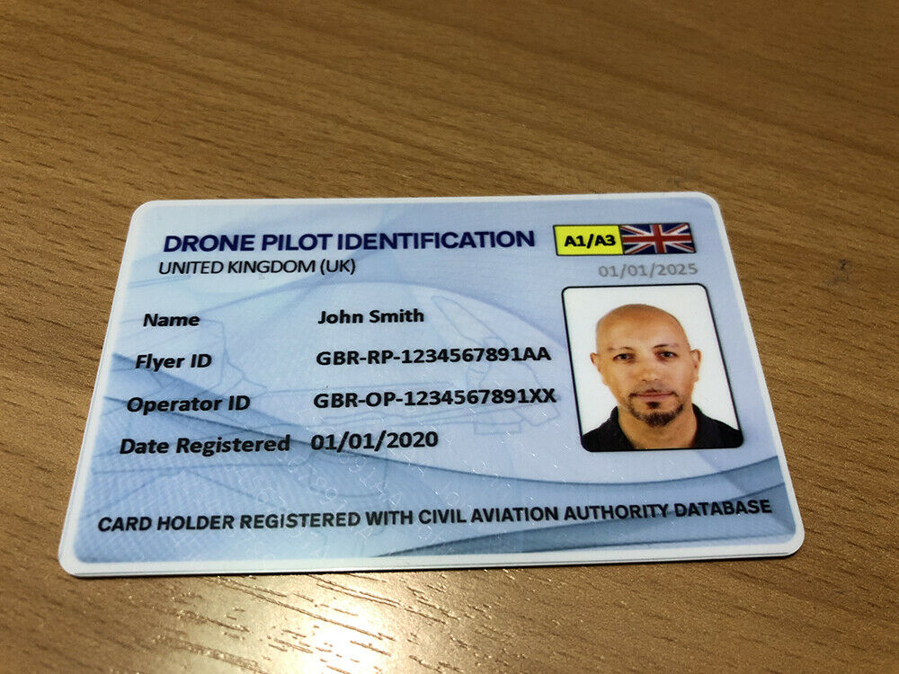 Drone ID Card - Drone and Model Aircraft Operator & Flyer ID Card DMARES CAA