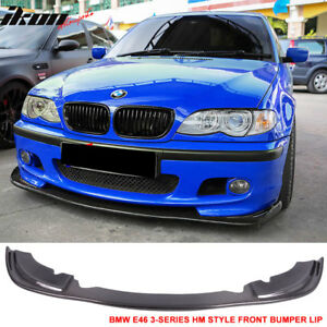 Fits 99 06 bmw e46 3 series m tech m sport only front bumper lip cf image is loading fits 99 06 bmw e46 3 series m publicscrutiny Image collections