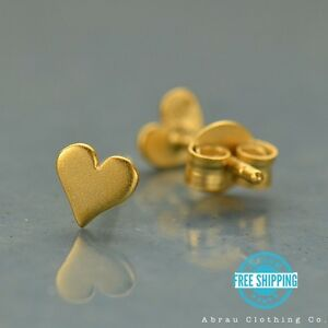 Tiny-Heart-Love-Stud-Post-Earrings-24K-Gold-Vermeil-Makes-a-Great-Gift
