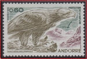 French Andorra Bird Eagle Mnh To Have A Unique National Style 1972 Andorre N°219** Oiseau Aigle Des Pyrénées