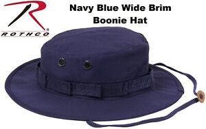 f477250486c Navy Blue Military Police Tactical Wide Brim Bucket Hunting Boonie ...