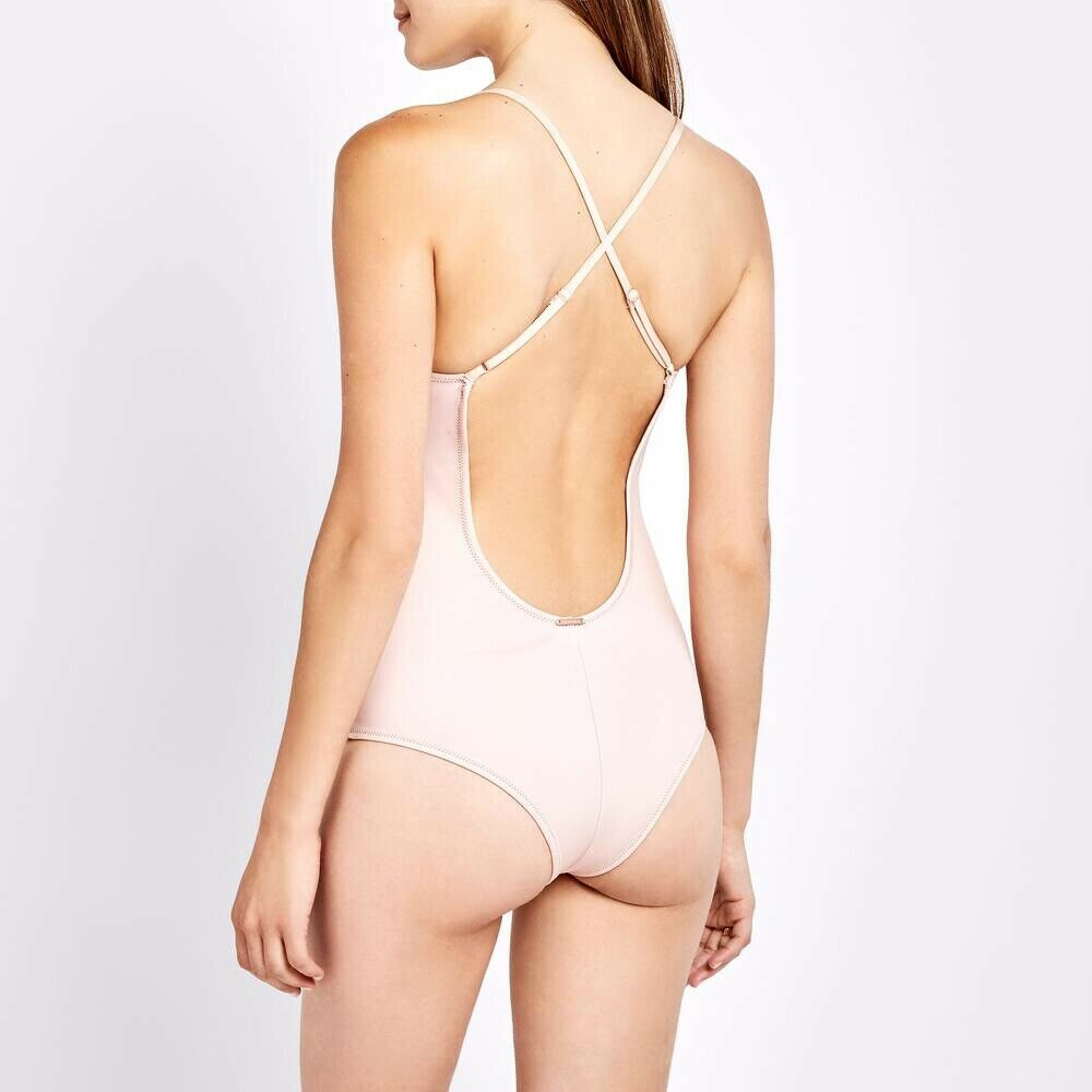 Cali Dreaming Natural Iota One Piece Cheeky Swimsuit Womens Size Small MSRP  242