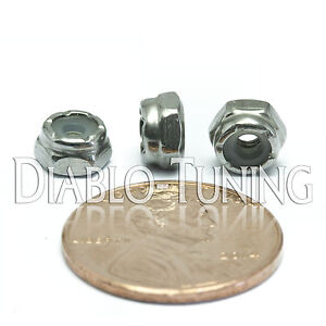 Nylon Insert Hex Lock Nut SAE UNF #4-48 NM A2 Stainless Steel 18-8 Qty 10
