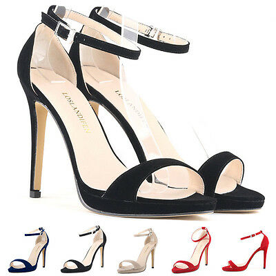 FASHION WOMENS HIGH HEELS TOE CORSET STILETTO COURT SHOES STRAP SANDALS SIZE 3-9
