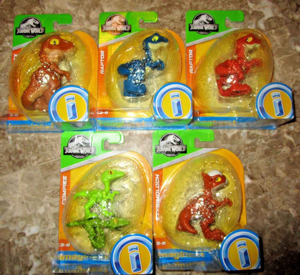 Imaginext jurassic world dinosaurier zahlen reihe 5 eier compies styggy raptor t - rex