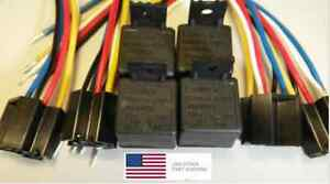 12V-Heavy-Duty-Relay-4-PACK-40A-SPST-4-Pin-W-Harness-1-YR-Exchange-FREE-SHIP