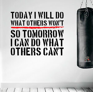 inspiring wall decal workout quote sticker diy boxing gym