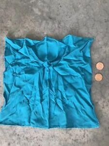 Vintage-Blue-Silk-Handkerchief-Scarf-Pocketsquare-Pocket-Square