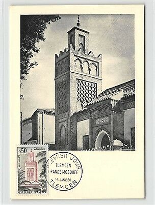 Effizient France Mk 1960 Algerie Tlemcen Mosquee Mosque Carte Maximum Card Mc Cm D9691 Elegant Im Stil Briefmarken Diverse Philatelie