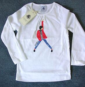 von Petit Bateau NEU!!! T-Shirt mit langem Arm in weiß oder rot