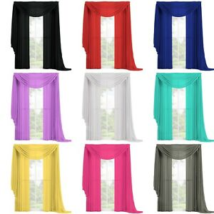 3-PC-Complete-Set-2-Panels-and-1-Scarf-Fully-Stitched-Sheer-Window-Curtain-Drape