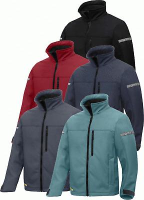 Black Softshell Jacket mens warm winter Snickers 1200  AllroundWork