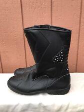 MINT SIDI Tour Rain Street Touring Motorcycle Boot Black Leather US 12.5 EUR 47