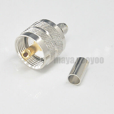 Lot of 30 UHF PL259 Male Coaxial Cable Connectors for LMR240