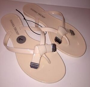 5c1e19a5a8b56 Ivanka Trump Womens Sandals Itnaza Naza Nude Pale Peach Flip Flop ...