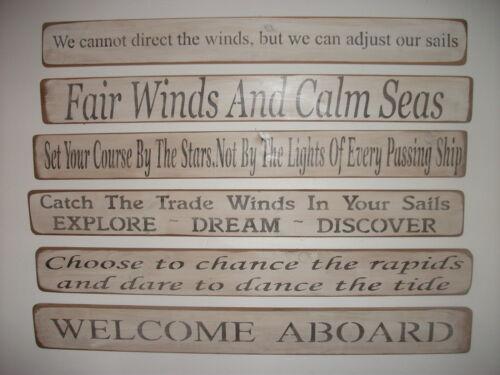 Shabby chic panneaux en bois souvenirs Trade Winds plage mer home Interiors