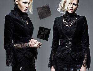 Dentelle Baroque Punkrave Velours Veste Lolita Retro Outlet Gothique Jacquard 8twHY