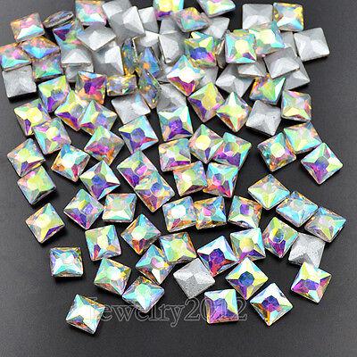 Non Hotfix Point Back Rhinestone Czech Crystal AB Glass Nail Art Top Quality