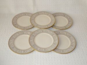 Franciscan-China-Renaissance-Grey-Bread-and-Butter-Plates-Set-of-6