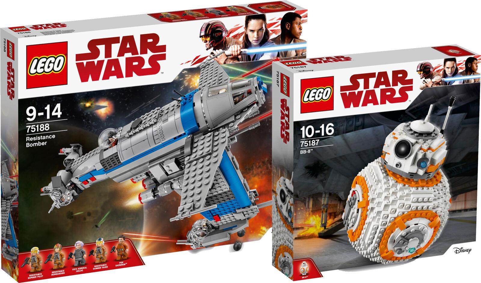 Lego Star Resistance Bomber 75187 Bb 8 Wars 75188 Onwjxo6715