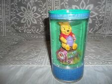 """DISNEY WINNIE THE POOH WATCH AND POOH FIGURE IN A CAN- Pink -  Bin """"A"""""""