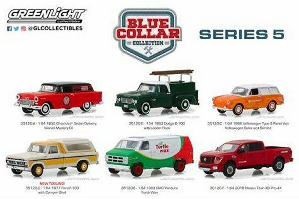 Greenlight 1 64 bluee Collar Collection Series 5 Assortment Assortment Assortment 6 Styles Car 35120 08e5c2