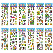 6 PLANTS V.S ZOMBIES STICKERS PARTY LOLLY BAG FILLER FAVOR GIFT SCRAPBOOKING