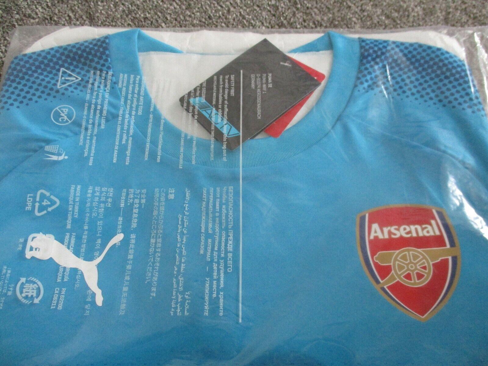 Arsenal FC 201718 Away Camicia Taglia M Blu ACTV Versione