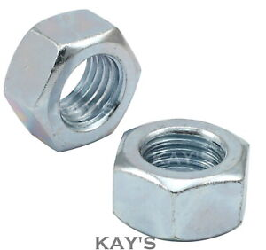 PACK OF 2 x 1//2 UNC ZINC PLATED NYLOC NUTS