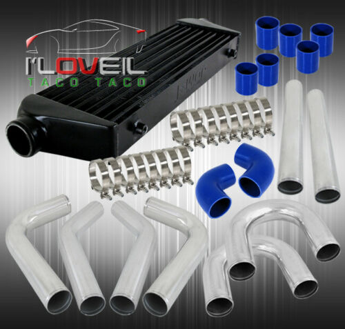 "8Pcs 64MM Piping Pipe Kit Aluminum Turbo 27.5/""X2.7/""X7/"" Front Mount Intercooler"