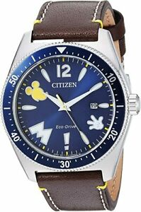 Citizen Mickey Mouse Eco-Drive Movement Blue Dial Men's Watch AW1599-00W