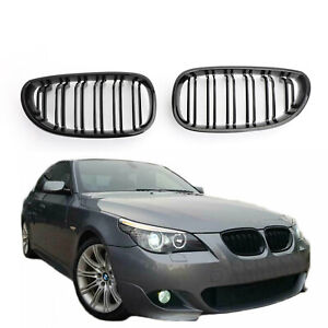 Glossy-Front-Grille-de-calandre-ABS-Pour-04-2009-BMW-E60-E61-M5-520i-530i-Nr