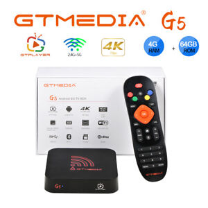 4K 1080P Smart Android 9.0 TV BOX GTMEDIA G5 Quad Core 4+64GB WiFi Media Player