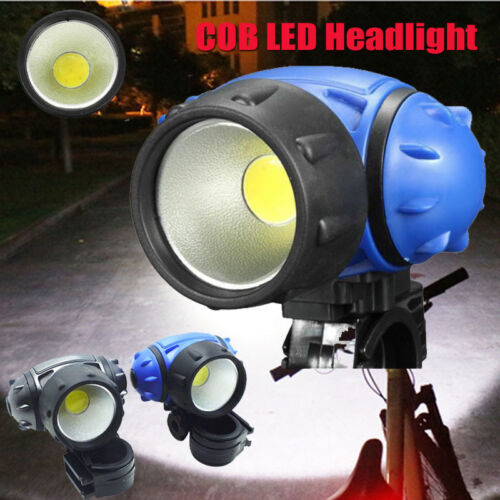 Bicycle Bike COB LED Headlight Front Ride Riding Cycling Head Light Lamp AAA FT