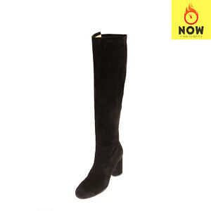 RRP-855-STUART-WEITZMAN-Suede-Leather-Knee-High-Boots-EU-37-UK-4-US-7-5-Pull-On