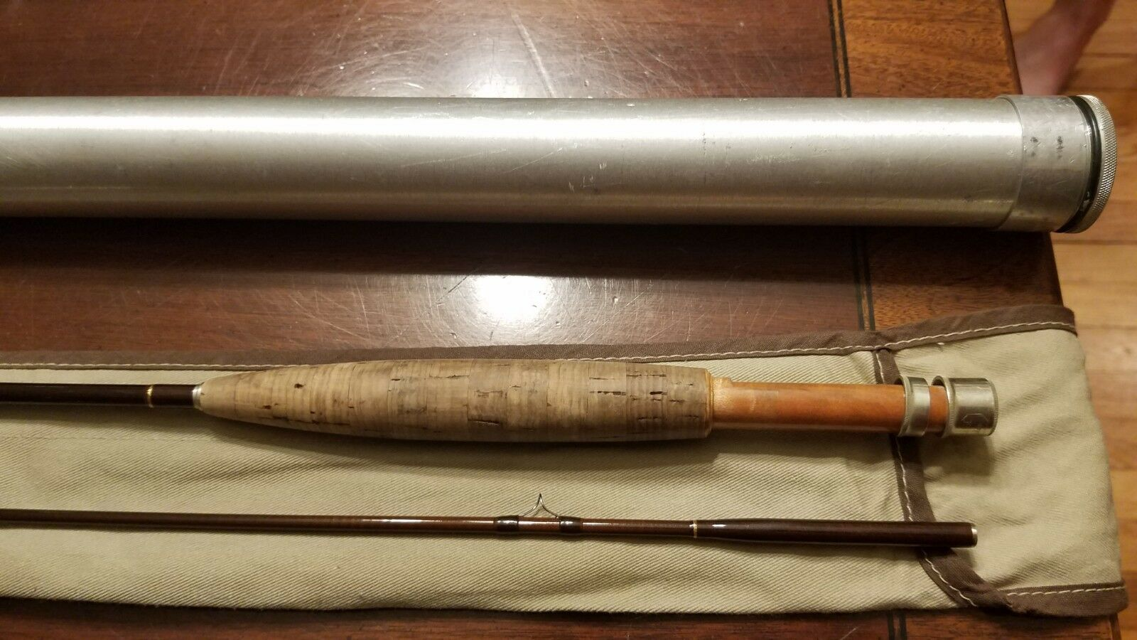 Ron Kusse Graphite Fly Rod 7 foot 6 inch 4 4 4 weight 2 piece excellent Condition 59417c