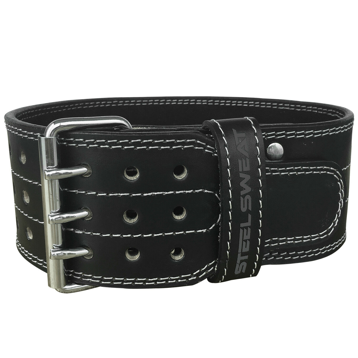 Powerlifting  Belt for Weight Lifting - 4  Wide - Triple Prong - Heavy Duty  best choice